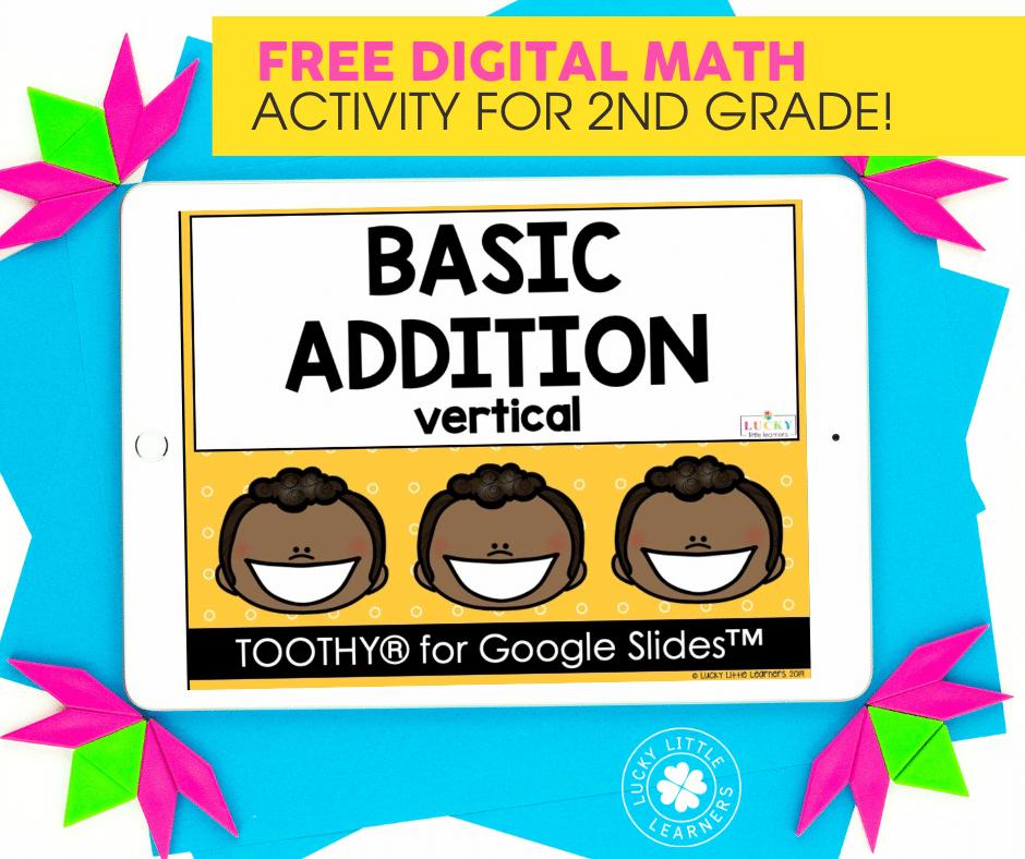 free vertical basic addition digital math game