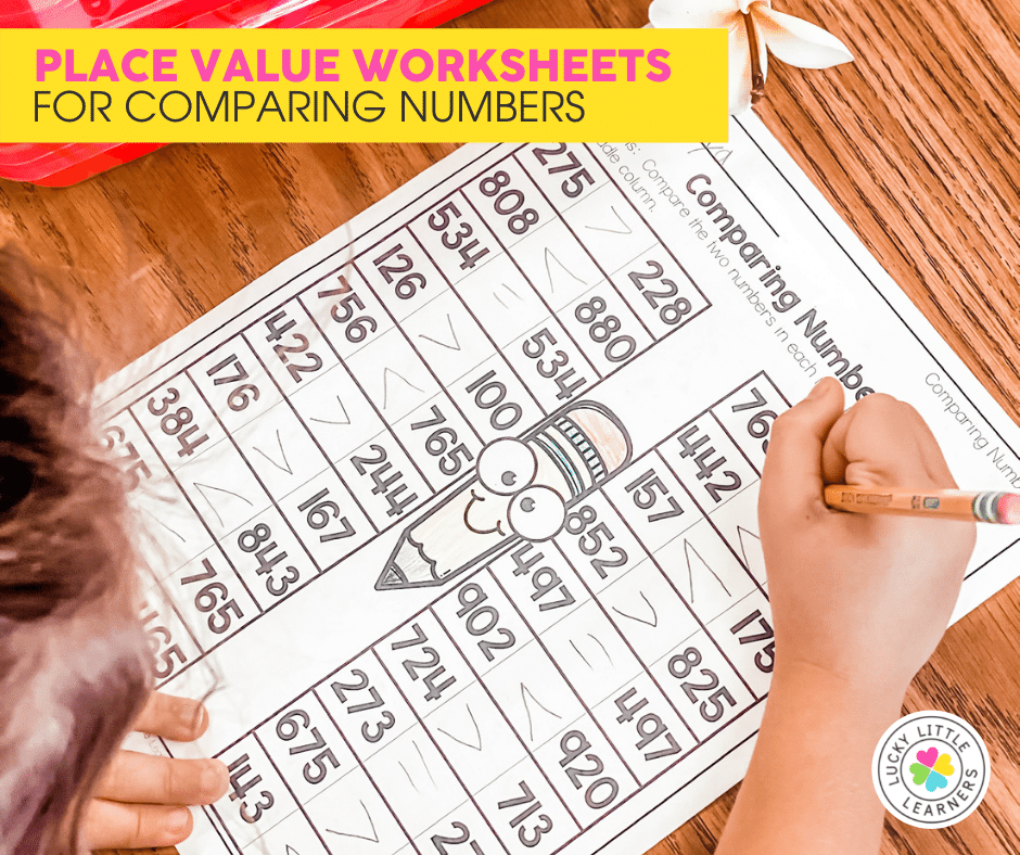 comparing numbers Place Value Worksheet