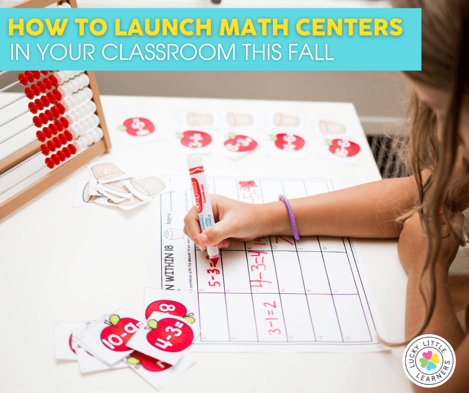 how to launch math centers in primary classrooms