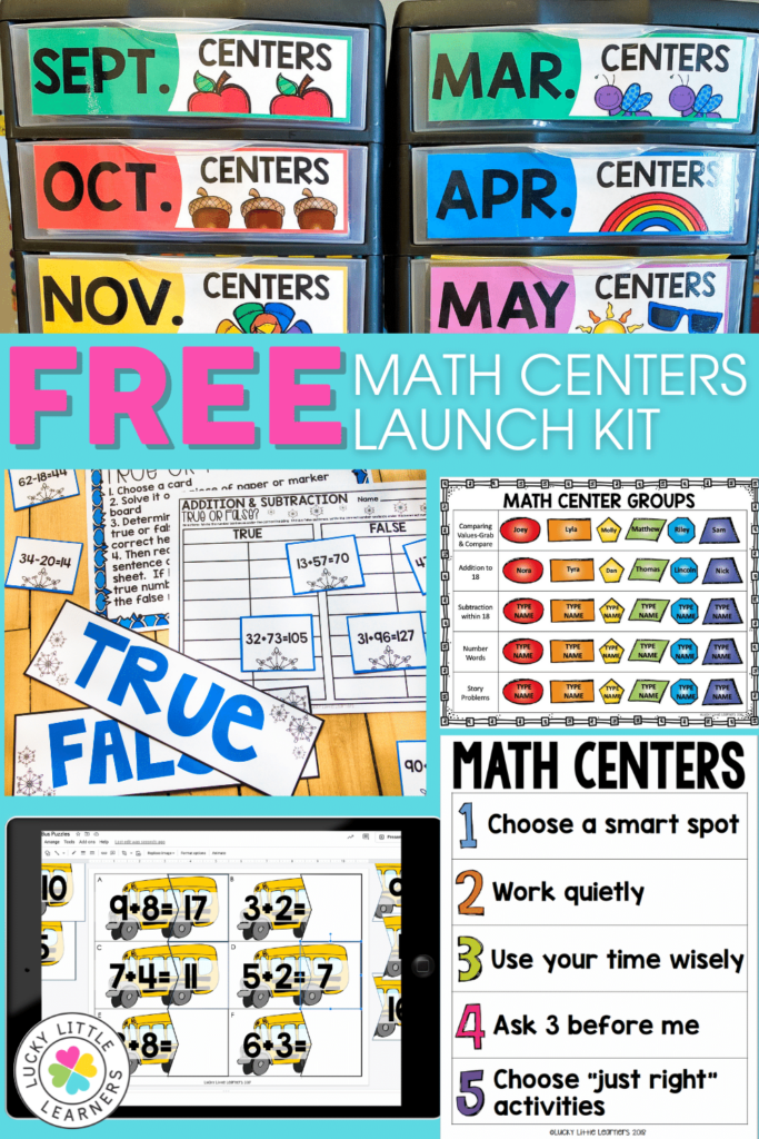 2nd grade math centers launch kit components