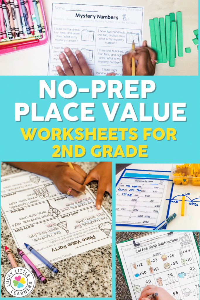no prep place value worksheets for 2nd grade
