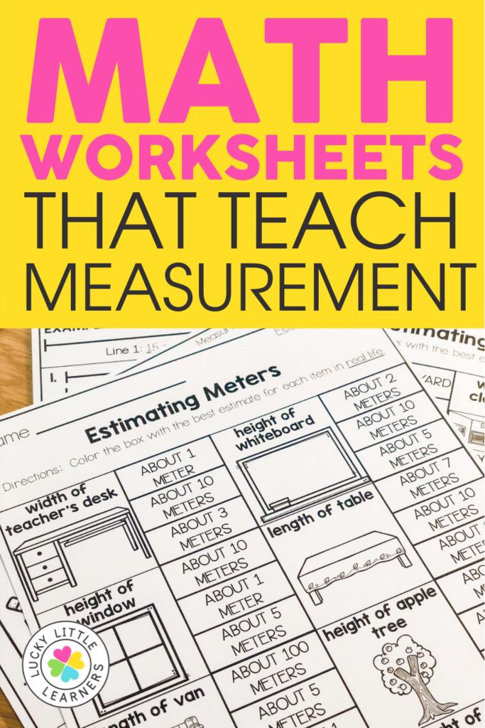 estimating meters math worksheet for second grade