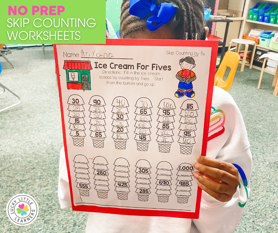 skip counting by fives worksheet