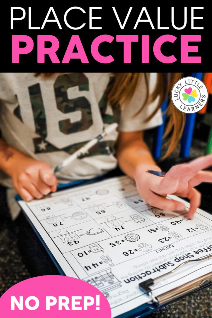 no prep place value practice