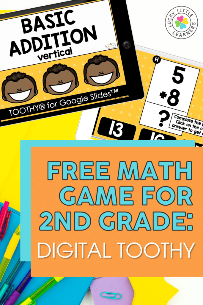 free digital toothy math game for 2nd grade