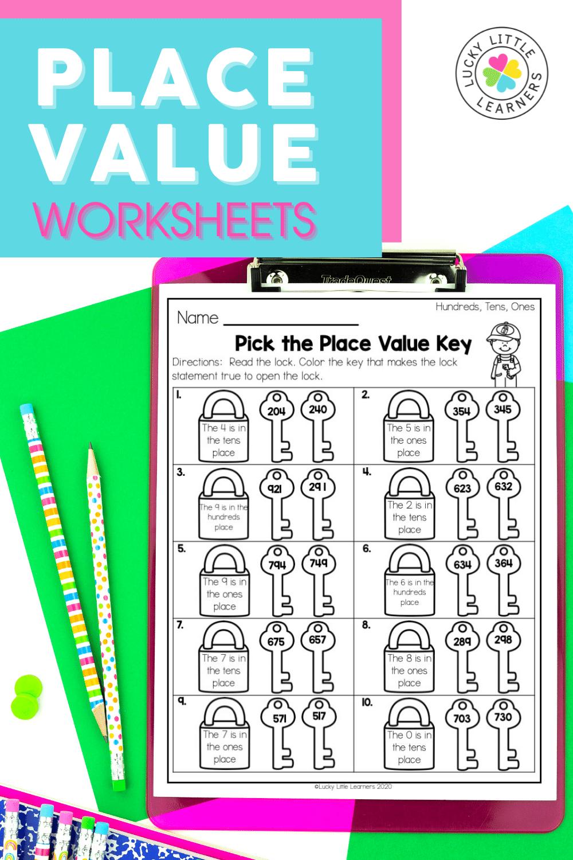 pick the place value key worksheet
