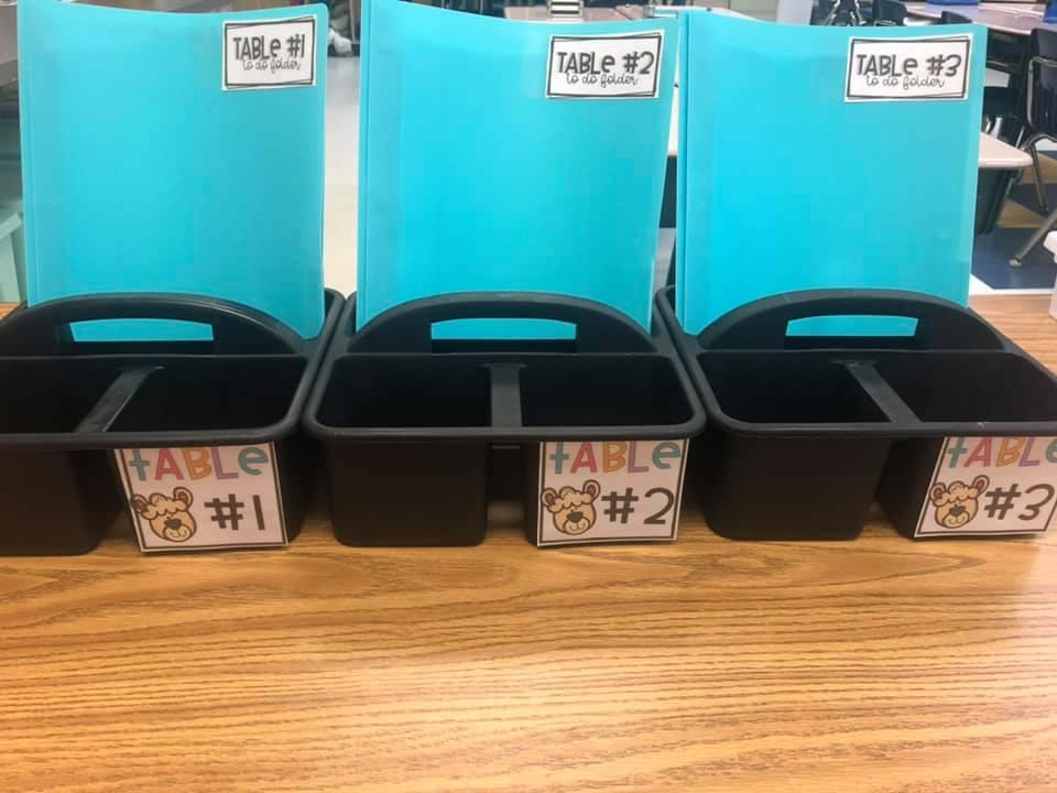 tabletop folder organization