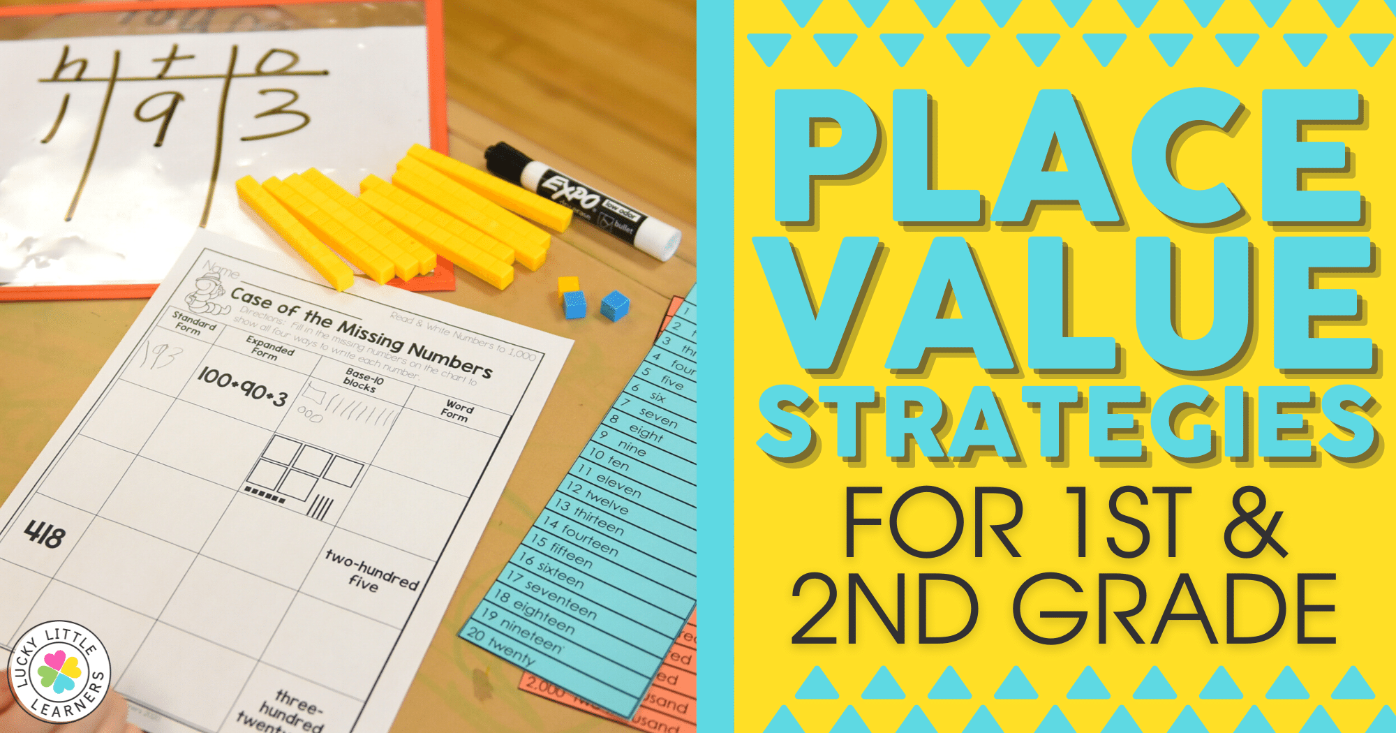 Place Value Strategies for 1st and 2nd Grade