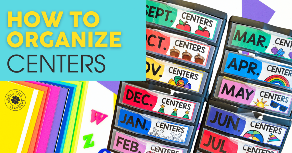 how to organize math and literacy centers