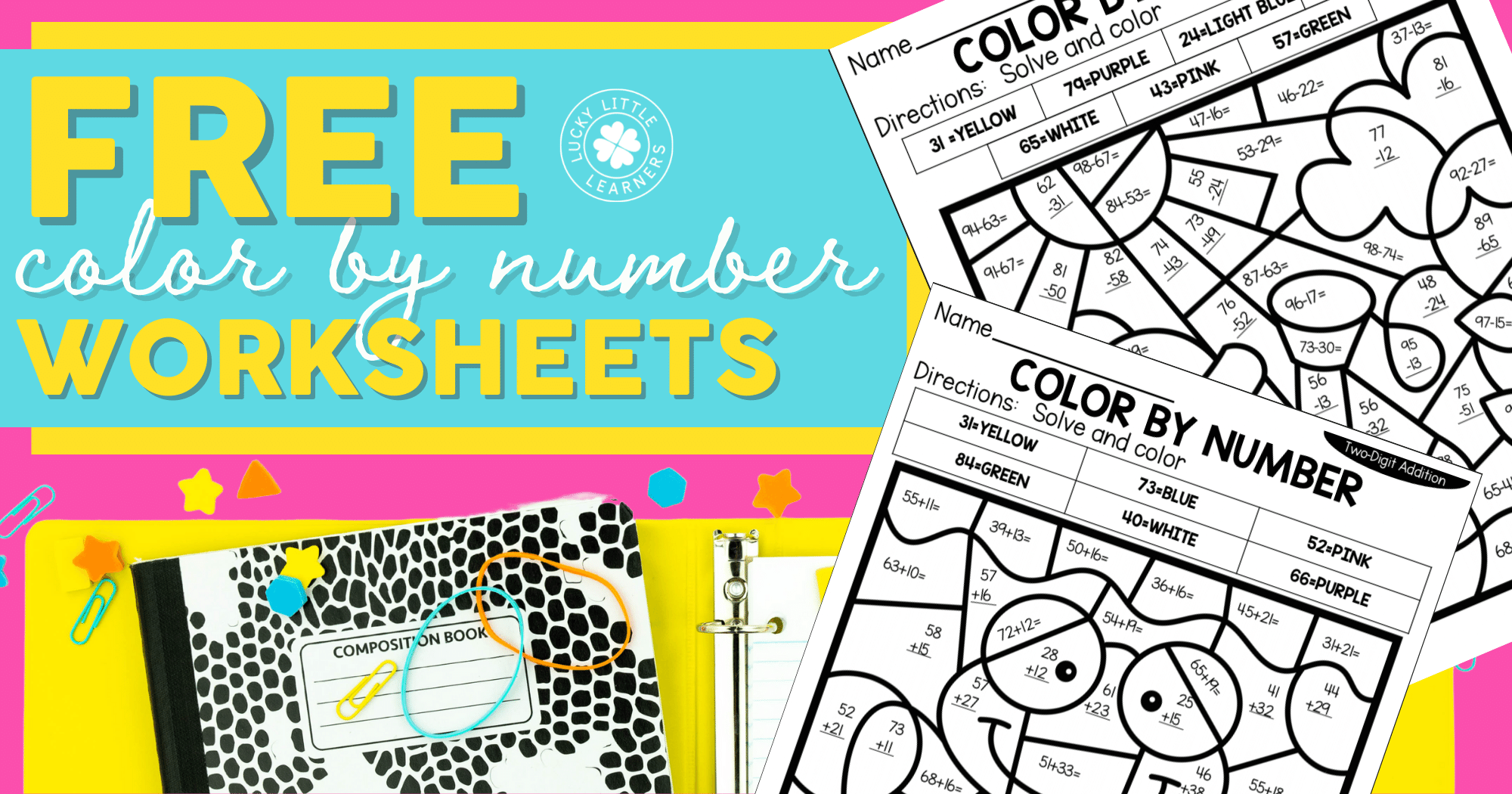 Free Color By Number Math Sheets
