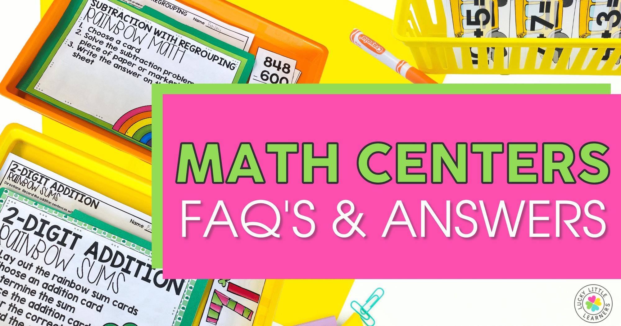 Math Center FAQ's & Answers