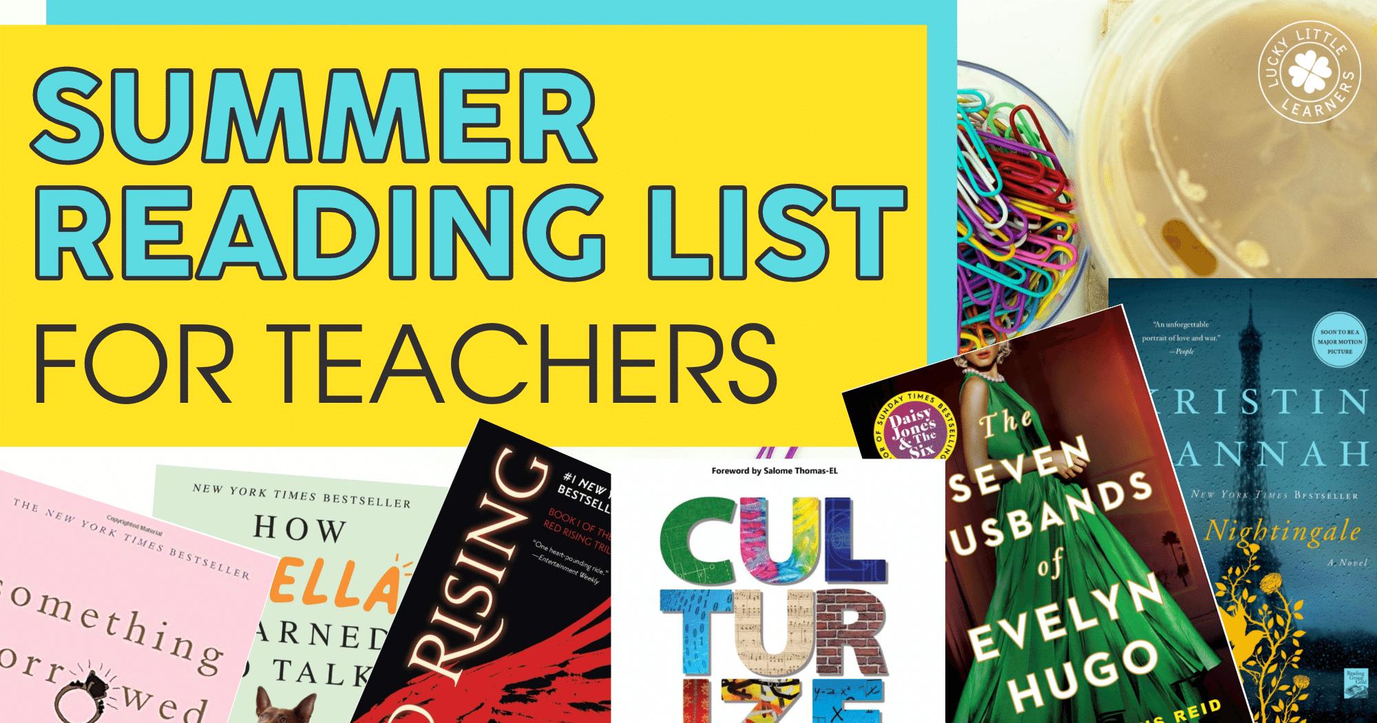Summer Reading List for Teachers