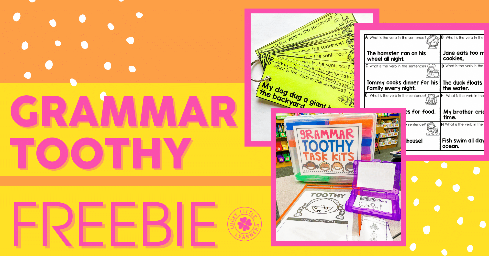 Free Grammar Toothy Activity!
