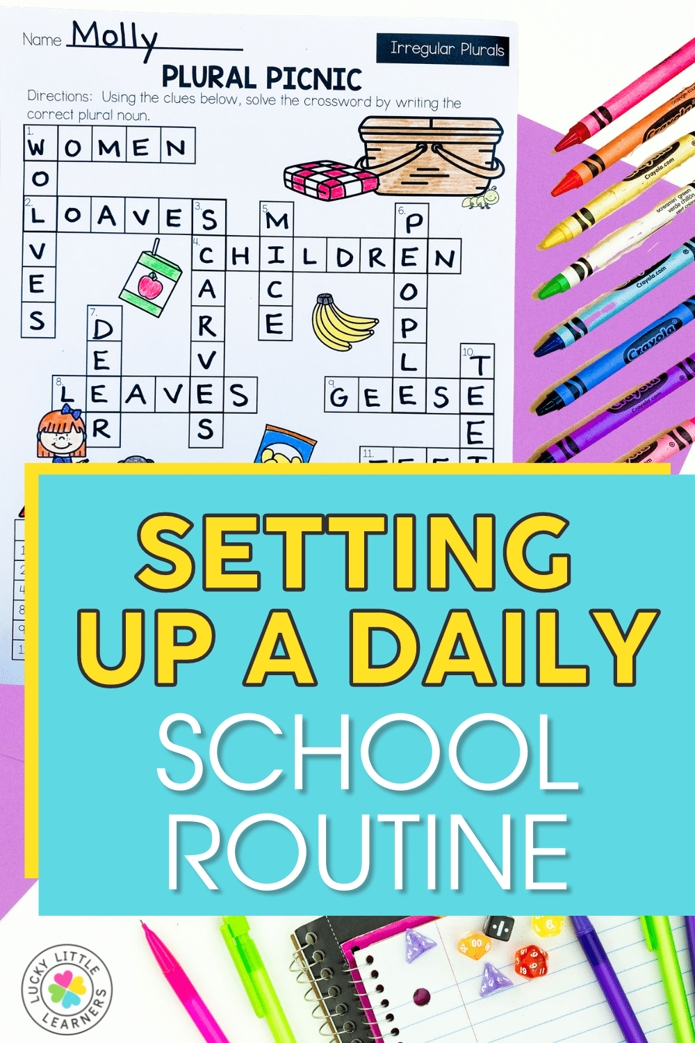 setting up a daily school routine
