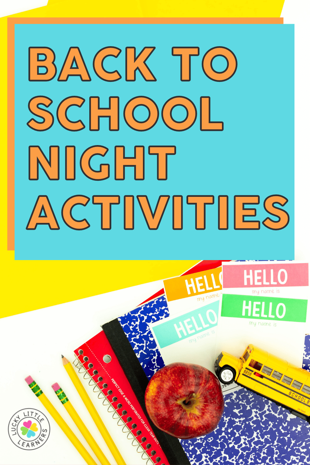 back to school night activities and ideas