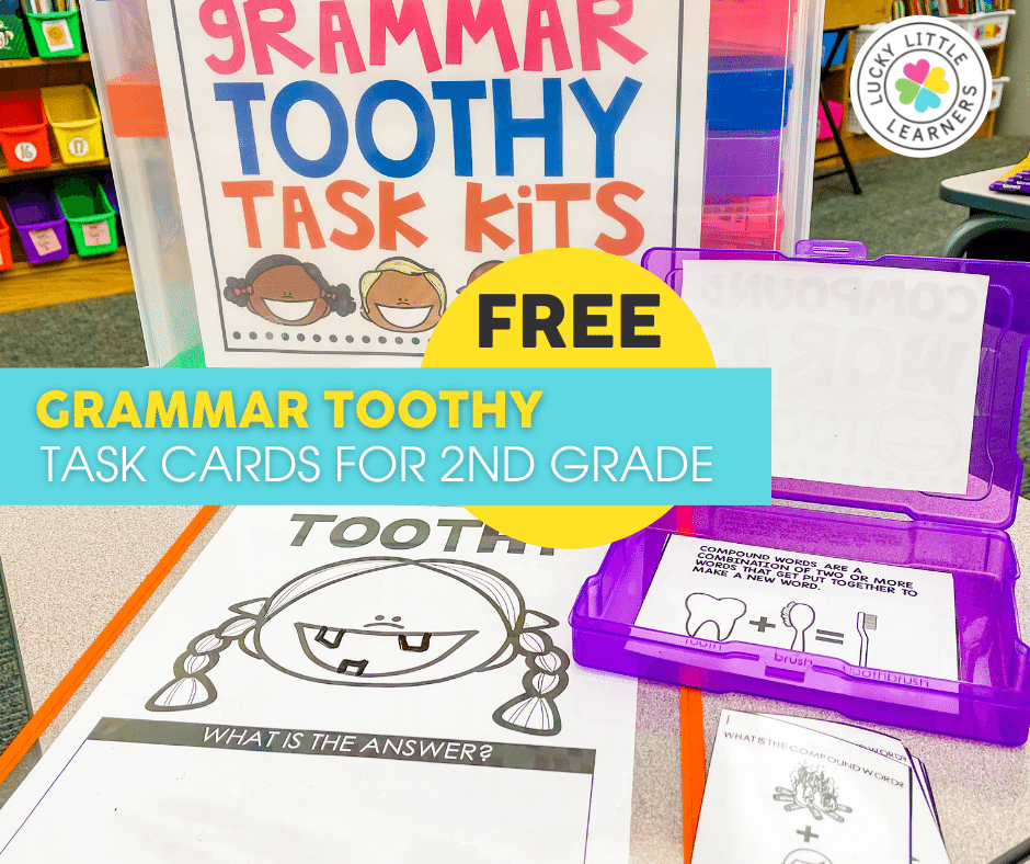 grammar toothy task cards for 2nd grade