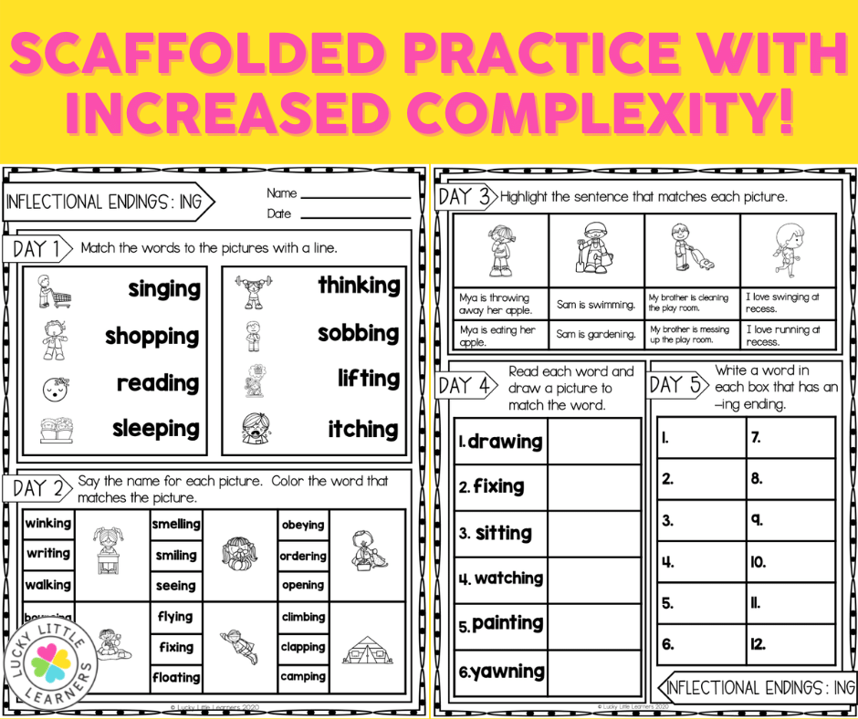 2nd grade scaffolded phonics practice sheets