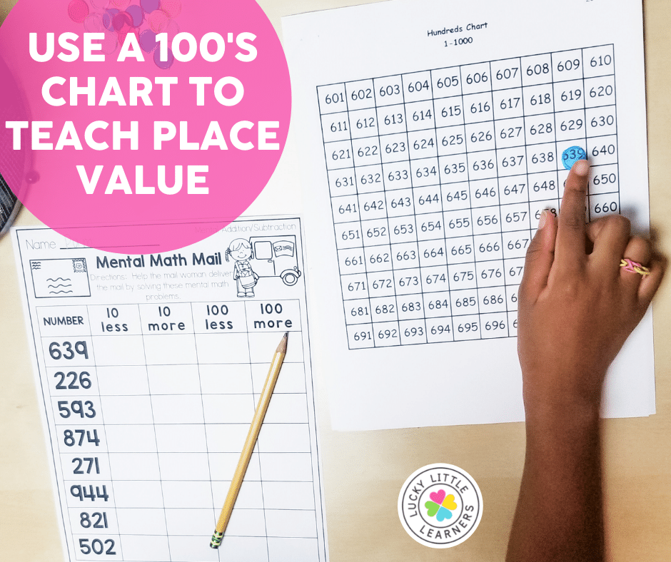 hundreds chart for teaching place value