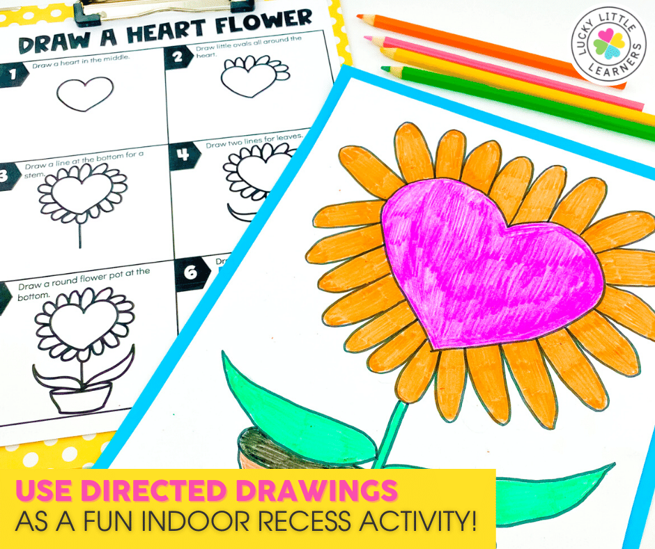 directed drawings as an indoor recess activity