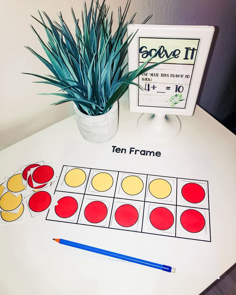 ten frame addition strategy