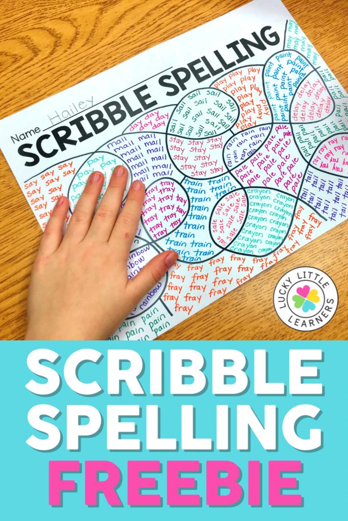 scribble spelling freebie