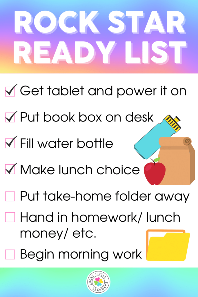rock star ready morning to do list for students