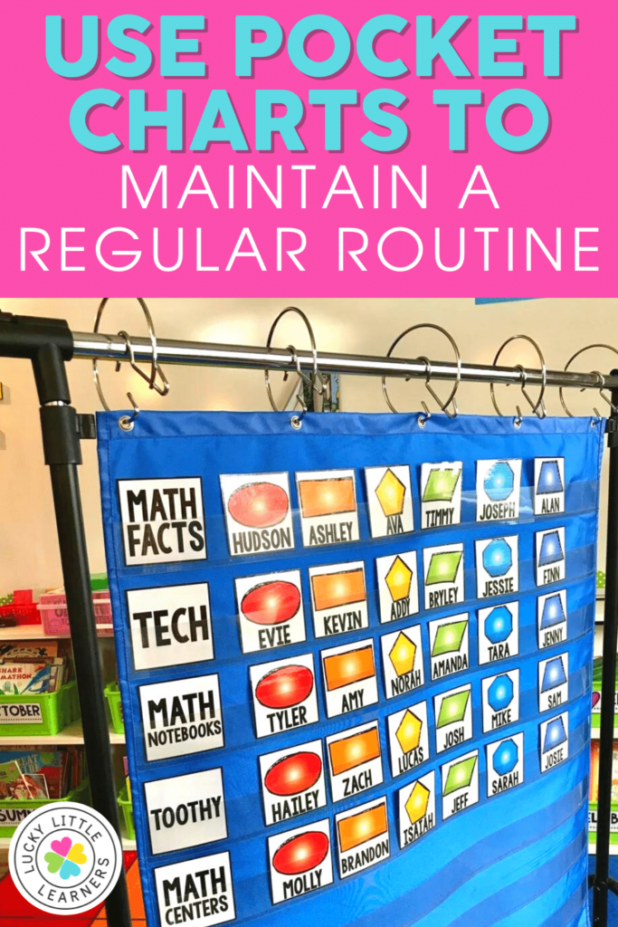 pocket chart for math centers
