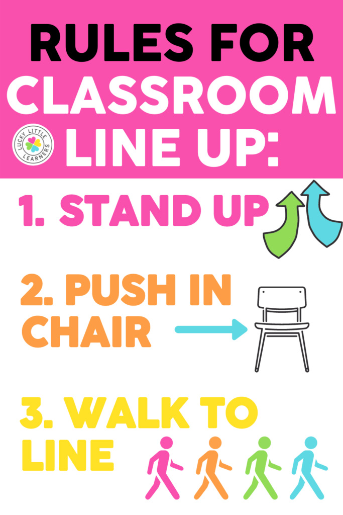rules for classroom lineup