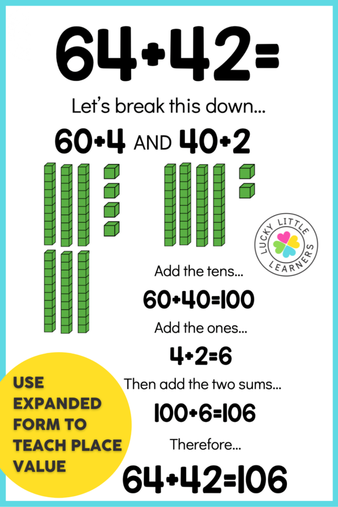 expanded form to teach addition