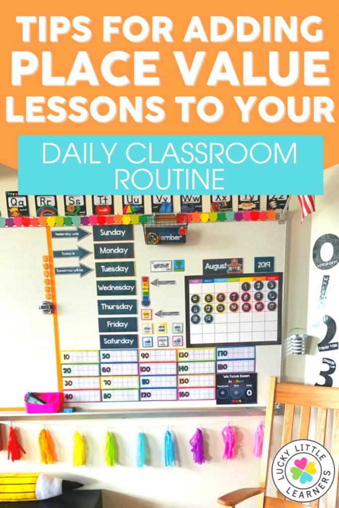 math calendar and classroom bulletin board
