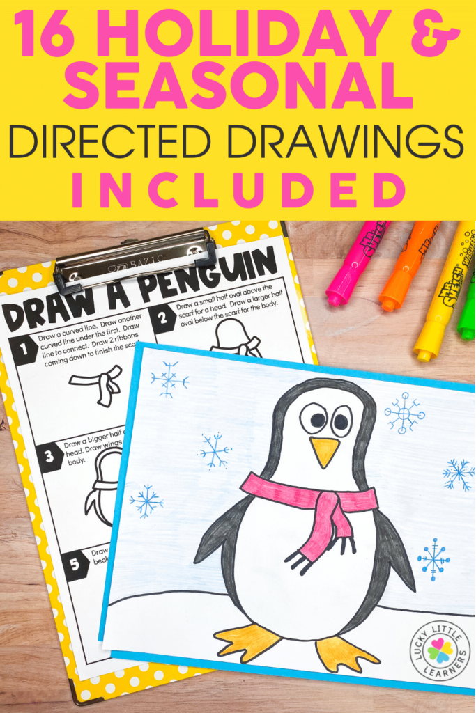 holiday draw a penguin