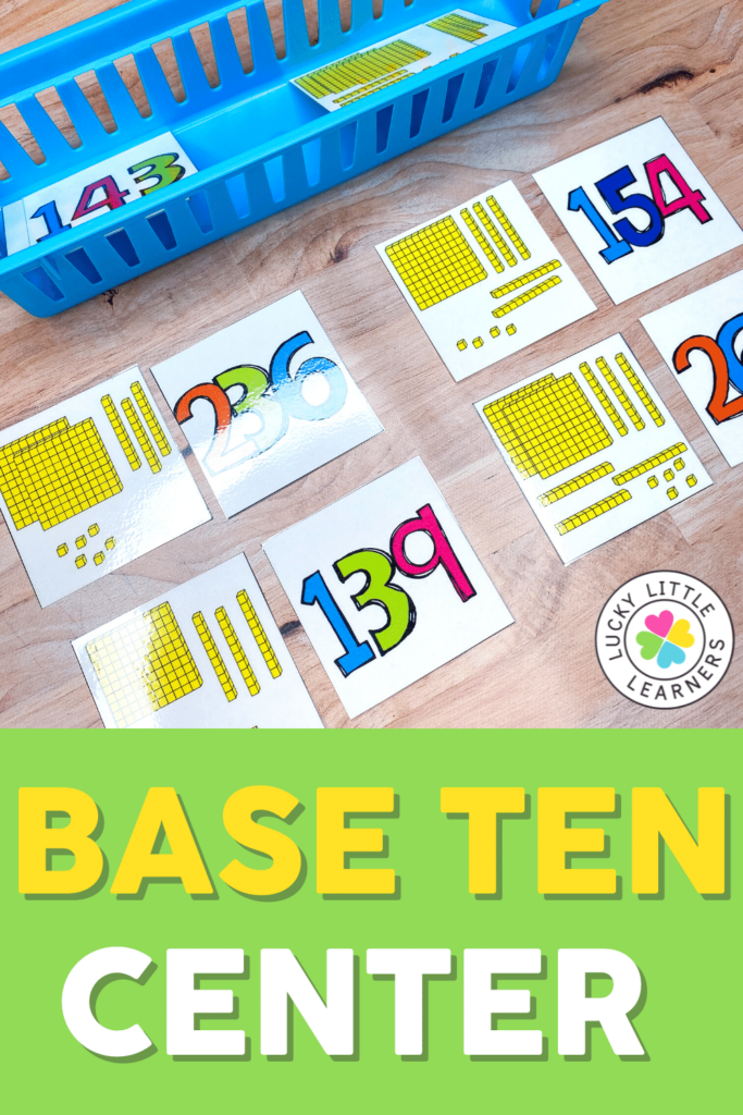 base ten math center activity for first and second grades