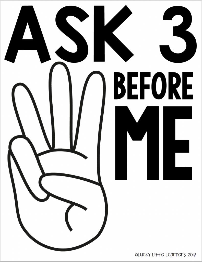 ask 3 before me rule chart