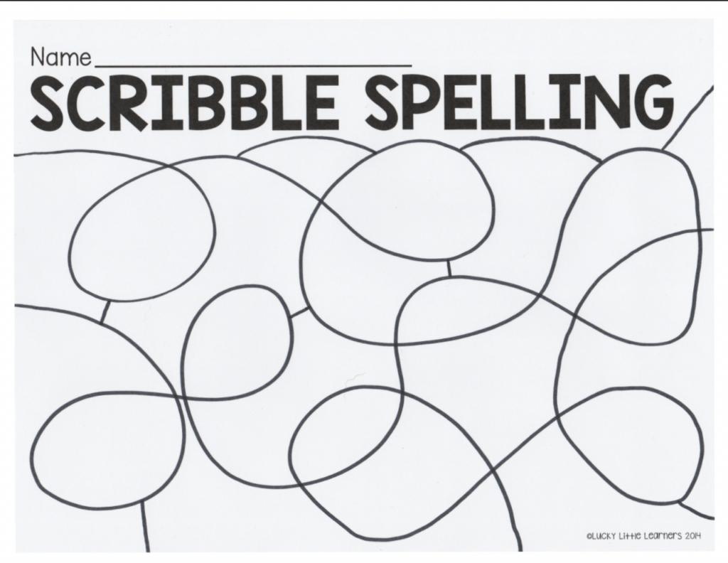 scribble spelling activity