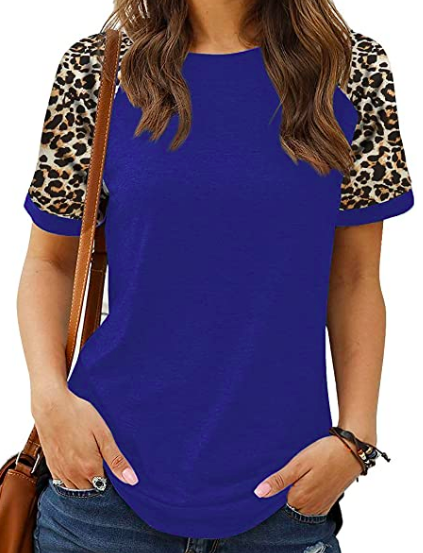 leopard print tunic round neck