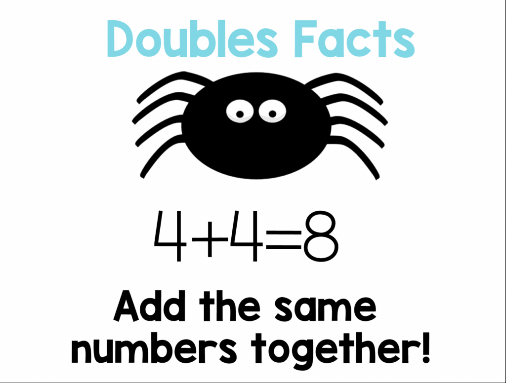 doubles facts addition strategy