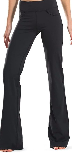 bootcut yoga pants with pockets