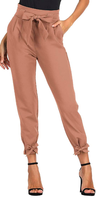 high waist pencil pants