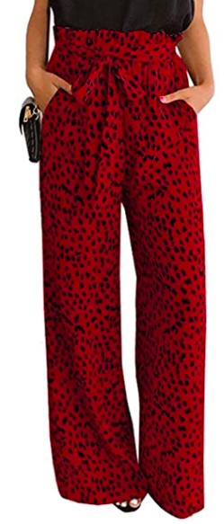 high waisted palazzo trousers