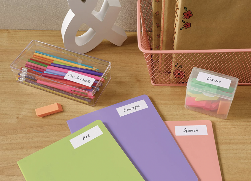 address labels for labeling classroom materials