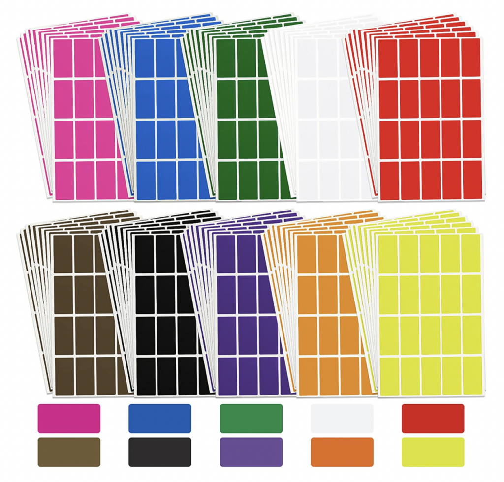 color-coded labels