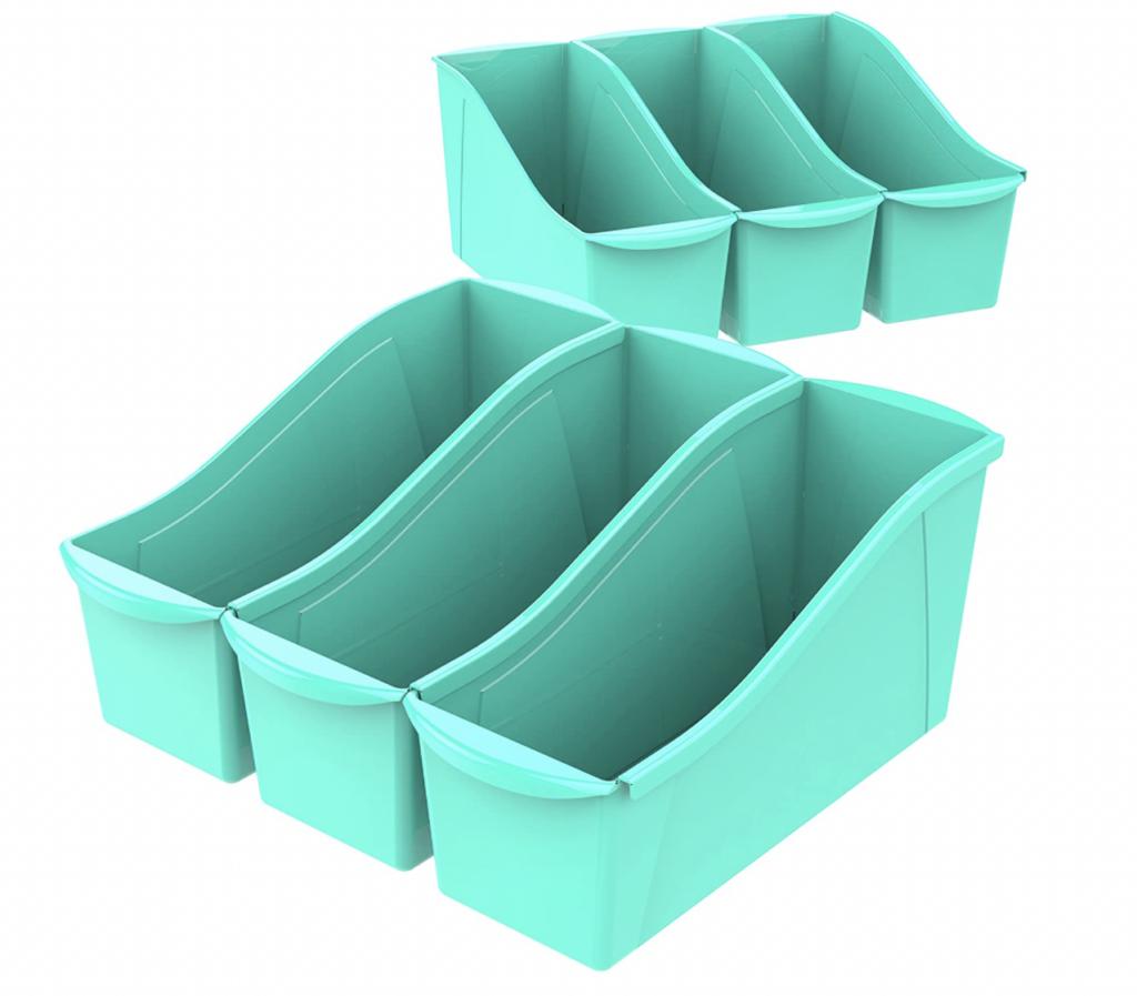 large interlocking book bins
