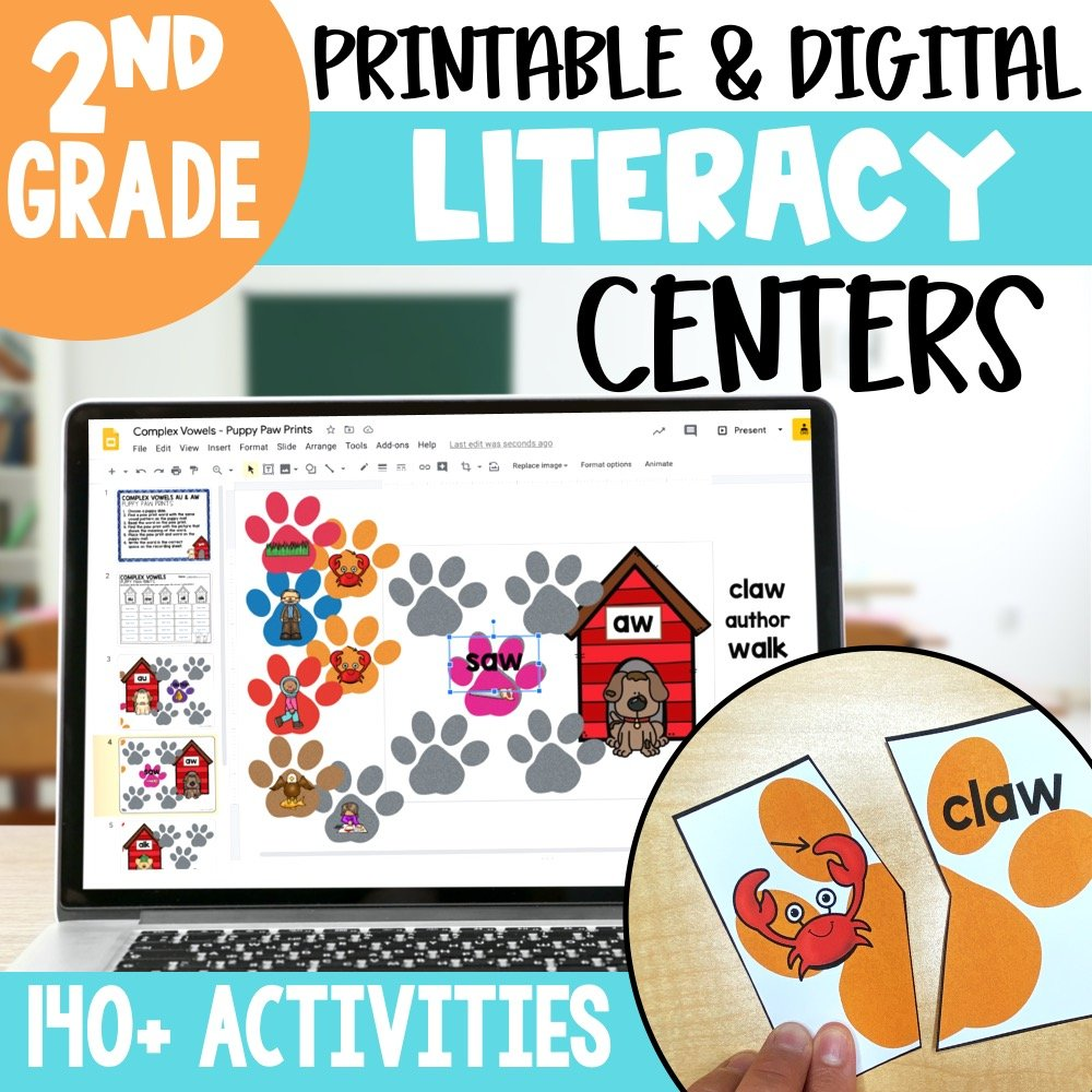 2nd grade literacy centers for the entire year
