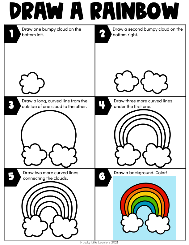 draw a rainbow sheet