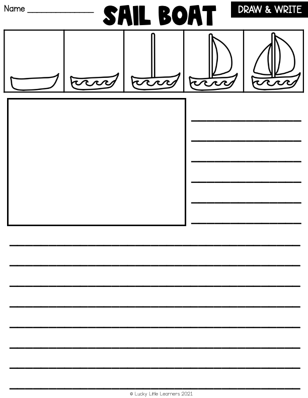 directed drawing draw and write sheet
