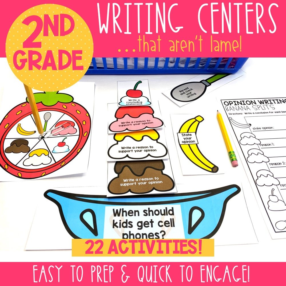 opinion writing center for 2nd grade classrooms