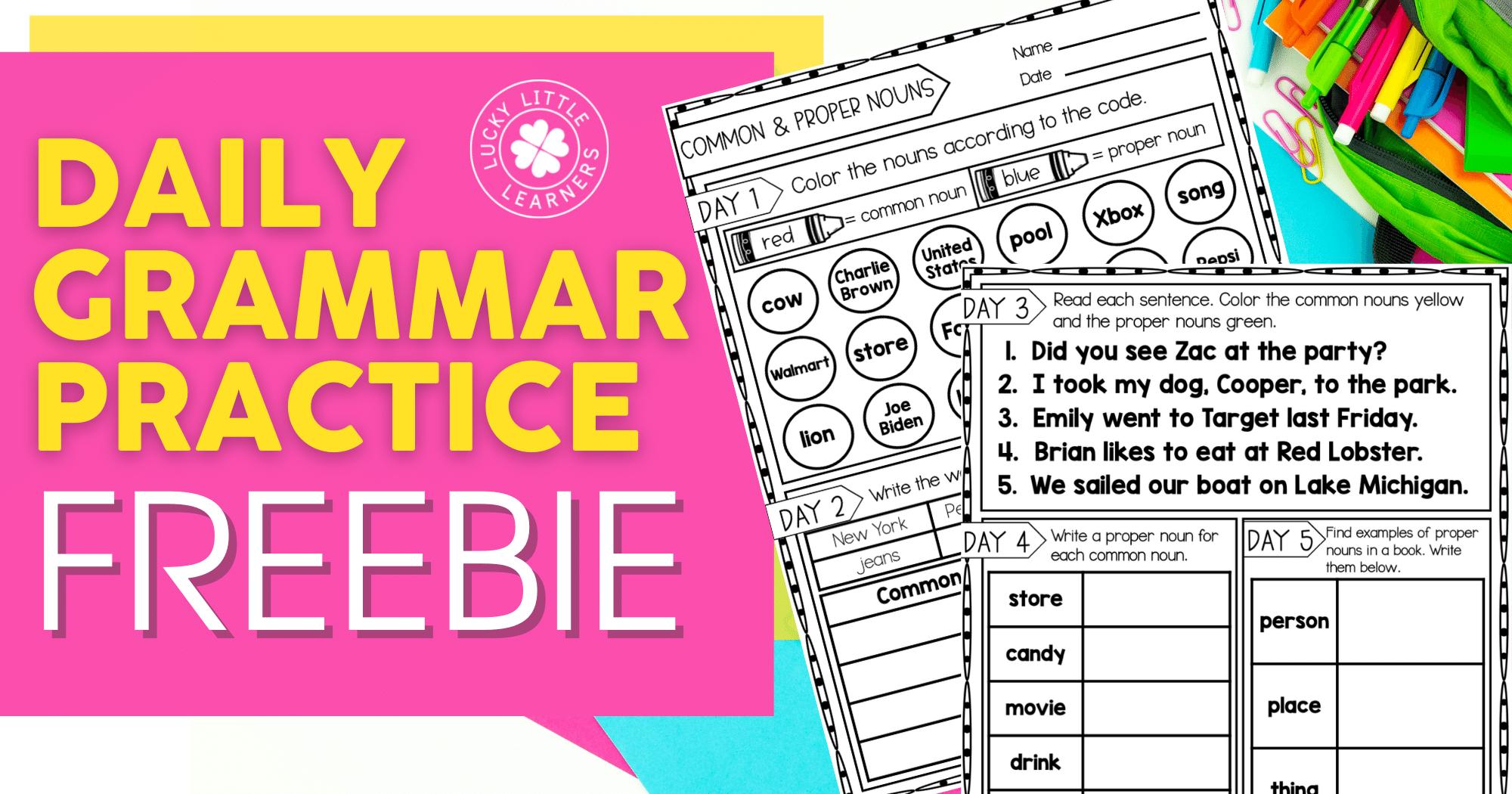 Daily Grammar Practice Freebie