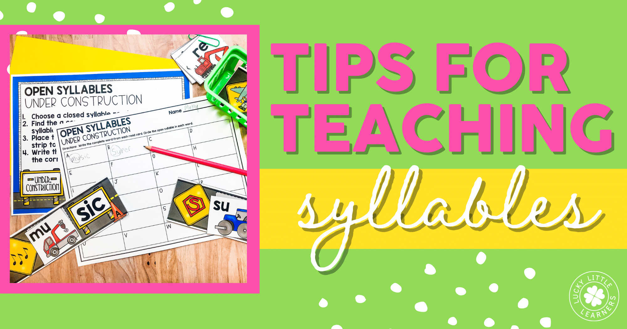 tips for teaching syllables to young children