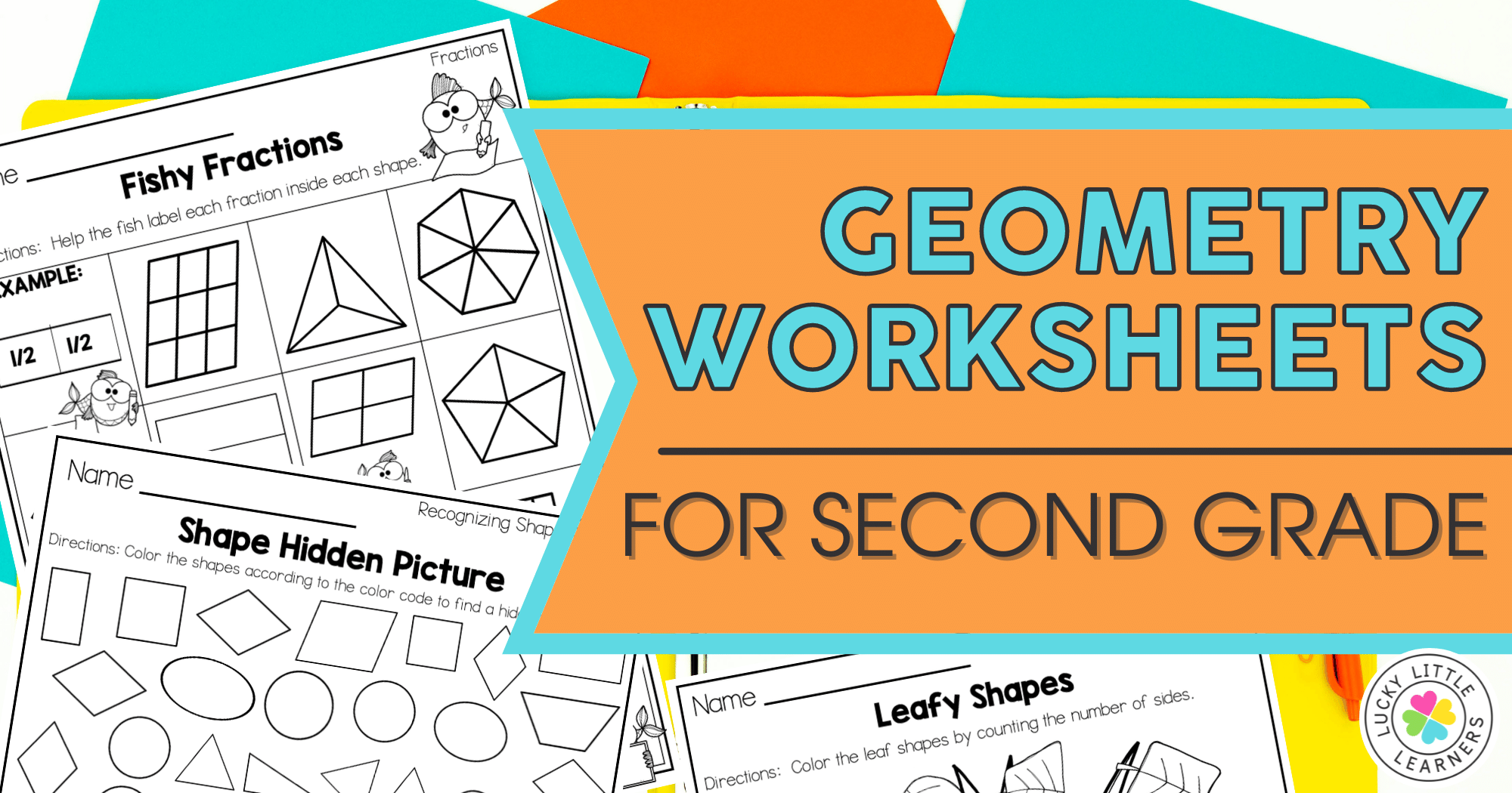 Geometry Worksheets for 2nd Grade