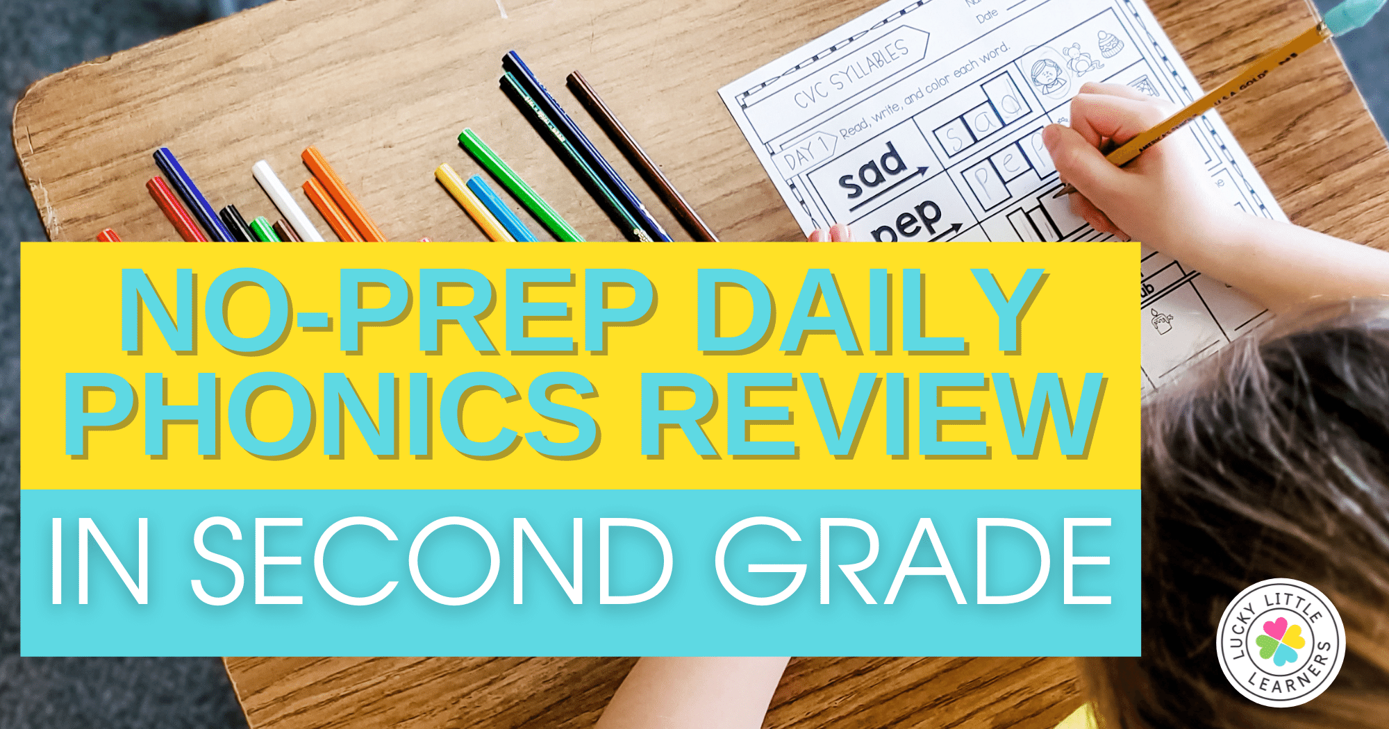 no prep daily phonics review in second grade